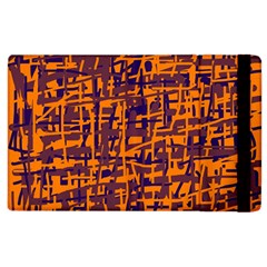 Orange and blue pattern Apple iPad 2 Flip Case
