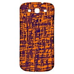 Orange and blue pattern Samsung Galaxy S3 S III Classic Hardshell Back Case