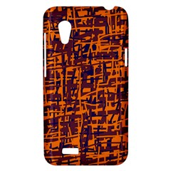 Orange and blue pattern HTC Desire VT (T328T) Hardshell Case