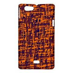 Orange and blue pattern Sony Xperia Miro