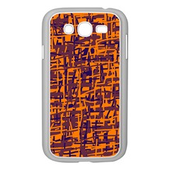 Orange and blue pattern Samsung Galaxy Grand DUOS I9082 Case (White)