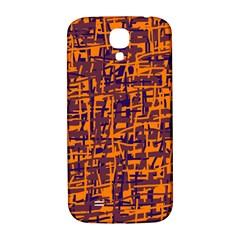 Orange and blue pattern Samsung Galaxy S4 I9500/I9505  Hardshell Back Case