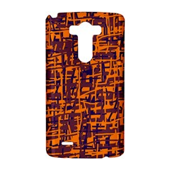 Orange and blue pattern LG G3 Hardshell Case