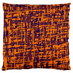 Orange and blue pattern Standard Flano Cushion Case (Two Sides)