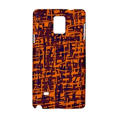 Orange and blue pattern Samsung Galaxy Note 4 Hardshell Case