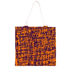 Orange and blue pattern Grocery Light Tote Bag