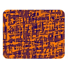 Orange and blue pattern Double Sided Flano Blanket (Large)