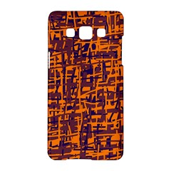 Orange and blue pattern Samsung Galaxy A5 Hardshell Case