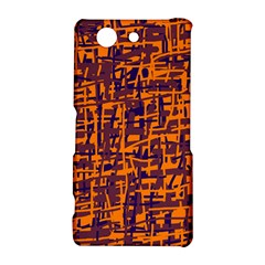 Orange and blue pattern Sony Xperia Z3 Compact