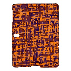 Orange and blue pattern Samsung Galaxy Tab S (10.5 ) Hardshell Case