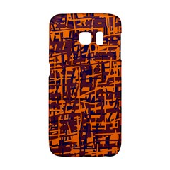 Orange and blue pattern Galaxy S6 Edge
