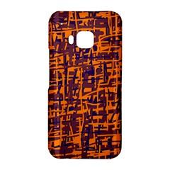 Orange and blue pattern HTC One M9 Hardshell Case