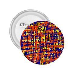 Orange, blue and yellow pattern 2.25  Buttons