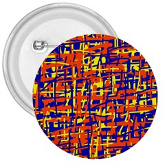 Orange, blue and yellow pattern 3  Buttons