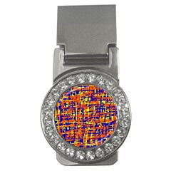 Orange, blue and yellow pattern Money Clips (CZ)