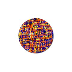 Orange, blue and yellow pattern Golf Ball Marker (10 pack)