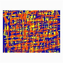 Orange, Blue And Yellow Pattern Collage Prints
