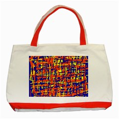 Orange, blue and yellow pattern Classic Tote Bag (Red)