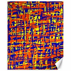 Orange, blue and yellow pattern Canvas 16  x 20