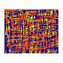 Orange, blue and yellow pattern Small Glasses Cloth (2-Side)