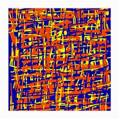 Orange, blue and yellow pattern Medium Glasses Cloth (2-Side)