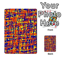 Orange, blue and yellow pattern Multi-purpose Cards (Rectangle)