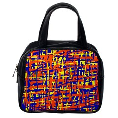 Orange, blue and yellow pattern Classic Handbags (One Side)