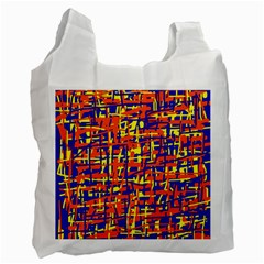 Orange, blue and yellow pattern Recycle Bag (Two Side)