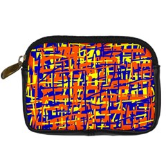 Orange, blue and yellow pattern Digital Camera Cases