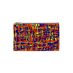 Orange, blue and yellow pattern Cosmetic Bag (Small)