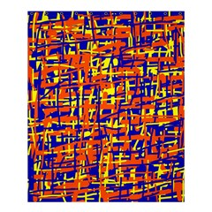 Orange, blue and yellow pattern Shower Curtain 60  x 72  (Medium)