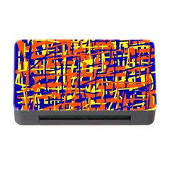 Orange, Blue And Yellow Pattern Memory Card Reader With Cf