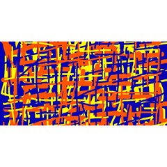 Orange, blue and yellow pattern YOU ARE INVITED 3D Greeting Card (8x4)