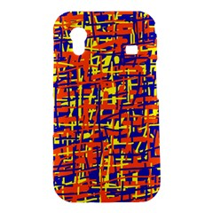 Orange, blue and yellow pattern Samsung Galaxy Ace S5830 Hardshell Case