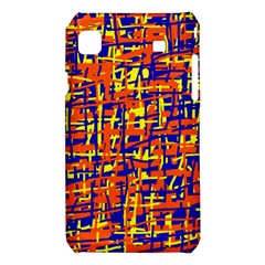 Orange, blue and yellow pattern Samsung Galaxy S i9008 Hardshell Case