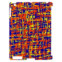 Orange, blue and yellow pattern Apple iPad 2 Hardshell Case (Compatible with Smart Cover)