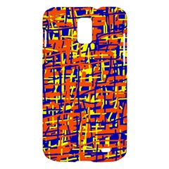 Orange, blue and yellow pattern Samsung Galaxy S II Skyrocket Hardshell Case