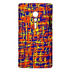Orange, blue and yellow pattern Sony Xperia ion