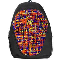Orange, blue and yellow pattern Backpack Bag