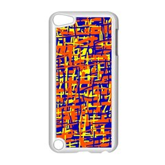 Orange, blue and yellow pattern Apple iPod Touch 5 Case (White)