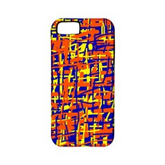 Orange, blue and yellow pattern Apple iPhone 5 Classic Hardshell Case (PC+Silicone)
