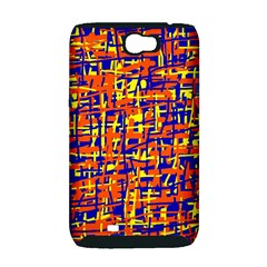 Orange, blue and yellow pattern Samsung Galaxy Note 2 Hardshell Case (PC+Silicone)