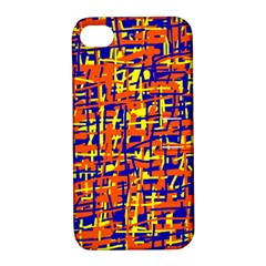 Orange, blue and yellow pattern Apple iPhone 4/4S Hardshell Case with Stand