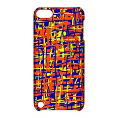 Orange, blue and yellow pattern Apple iPod Touch 5 Hardshell Case with Stand