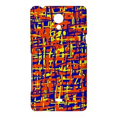 Orange, blue and yellow pattern Sony Xperia T