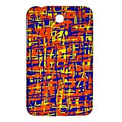 Orange, blue and yellow pattern Samsung Galaxy Tab 3 (7 ) P3200 Hardshell Case