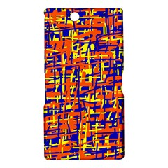 Orange, blue and yellow pattern Sony Xperia Z Ultra