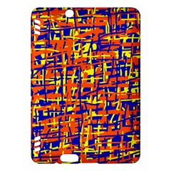 Orange, blue and yellow pattern Kindle Fire HDX Hardshell Case