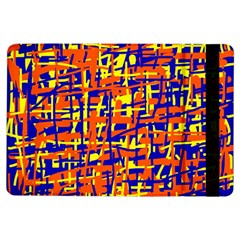 Orange, blue and yellow pattern iPad Air Flip