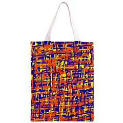 Orange, blue and yellow pattern Classic Light Tote Bag
